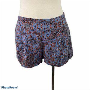ECOTE Blue & Red Paisley Print Shorts